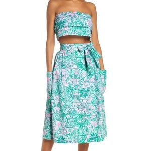 NWT Lilly Pulitzer Lenora Agate Skirt & Top Set 8